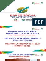 Presentación Programa Banco Social Del Valle 2020..
