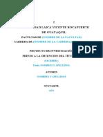 Normas de presentación proyecto de investigación