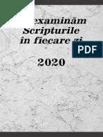 Sa Examinam Scripturile 2020