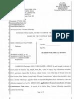 Reno Christian Fellowship Petition for Judicial Review