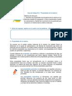 Guía de Trabajo N2 Propiedades de La Materia 8vo