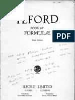 Ilford Book of Formulae, 3rd Edition