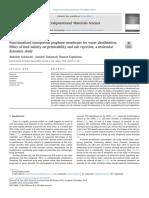 Functionalized nanoporous graphene membrane for water desalination