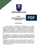 REGIONALISMO EN AMERCA LATINA