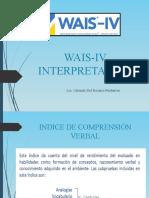 WAIS IV- Interpretación