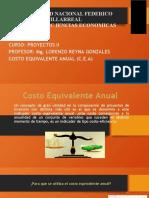 COSTO EQUIVALENTE ANUAL - CAE 2021