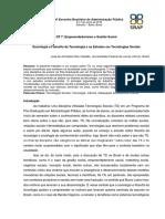 2019 VALADÃO Sociologia Da Tecnologia