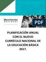 Planificación Anual Con El Nuevo Currículo Nacional de La Educación Básica 2017. (1)