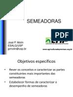 Mecanização Agricola - Semeadoras