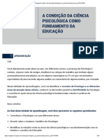 Condição  da ciência psicologica na educação