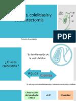 Colecistitis, colelitiasis y colecistectomía