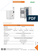 Outdoor LFP Power Cabinet for Telecom