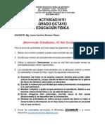 ACTIVIDAD 01 EDU. FÍSICA 8