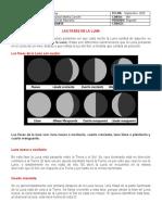 Fases de La Luna Grado 4 y Movimientos de La Tierra