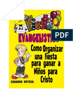 PROGRAMA DE  FIESTAS  EVANGELISTICAS -