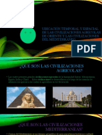 Ubicación temporal y espacial de las civilizaciones agrícolas