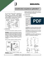 BIOLOGÍA 1(b) - Biomoléculas orgánicas - glúcidos