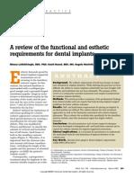Una revisión de las especificaciones funcionales y estéticos requisitos para implantes dentales