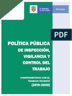 POLITICA PUBLICA DE PIVC COMPROMETIDOS CON EL TRABAJO DECENTE