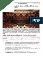 ALLEGATO - Decreto Semplificazioni - Le Modifiche Al Codice Dei Contratti Dalla a Alla Z