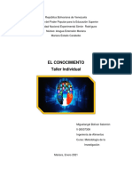 I TALLER METODOLOGÍA D ELA INVESTIGACIÓN