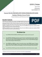 Huawei Wlan Ap8050dn_ap8150dn_ap8082dn_ap8182dn Tolly Report