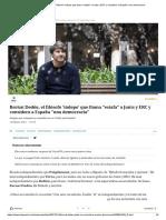 Bernat Dedéu, el filósofo 'indepe' que llama _estafa_ a Junts y ERC y considera a España _una democracia_