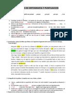 TALLER DE ORTOGRAFÍA Y PUNTUACIÓN