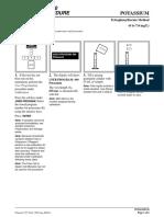 Manual Determination Potassium Method