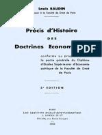 Précis d'Histoire Des Doctrines Économie s