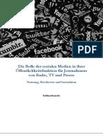 Die Rolle der sozialen Medien in der Öffentlichkeitsfunktion für Journalismus