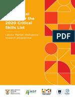 2020 Critical Skills List Report