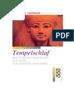 Quinque, Gabriele - Tempelschlaf - Ägyptische Einweihung Als Reise Zum Inneren Geheimnis (D 204)