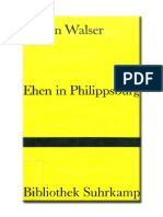 Walser, Martin - Ehen in Philippsburg