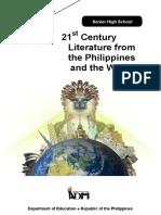 21stCenturyLiterature12 Q1 Mod1 Philippine Literary History Ver3