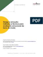 Design e emoção métodos e técnica para avaliação emocional de bens de moda