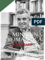 Réné  GIRARD - Minciună romantică și adevăr romanesc