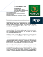 AMISOM, SNA in Security Operations to Secure Electoral Process