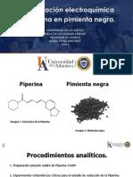 Cuantificación de piperina.