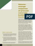 volume change response of precast concrete buildings