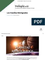 Los Planetas Retrógrados en Astrología - Qué Son y Cómo Afectan