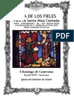 I Domingo de Cuaresma. Guía de los fieles para la santa misa cantada.  Kyrial XVII