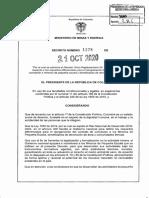 DECRETO 1378 DEL 21 DE OCTUBRE DE 2020 Pequeños mineros formalizacion