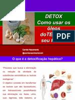 Live de detoxificação e óleos essenciais