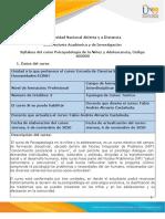 Syllabus de curso - Psicopatología de la niñez y la adolescencia