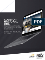 Preenchimento do Coletor Nacional - DBE de alterações (Eventos 209, 210, 211, 220, 225 e 244)