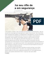 acionamento de registro de segurnça fuzil