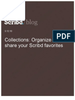 Collections- Organize and Share Your Scribd Favorites, Scribd Blog, 3.12.10