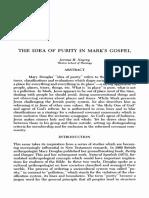 La idea de pureza en el evangelio de Marcos