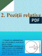 2. Pozitii relative
